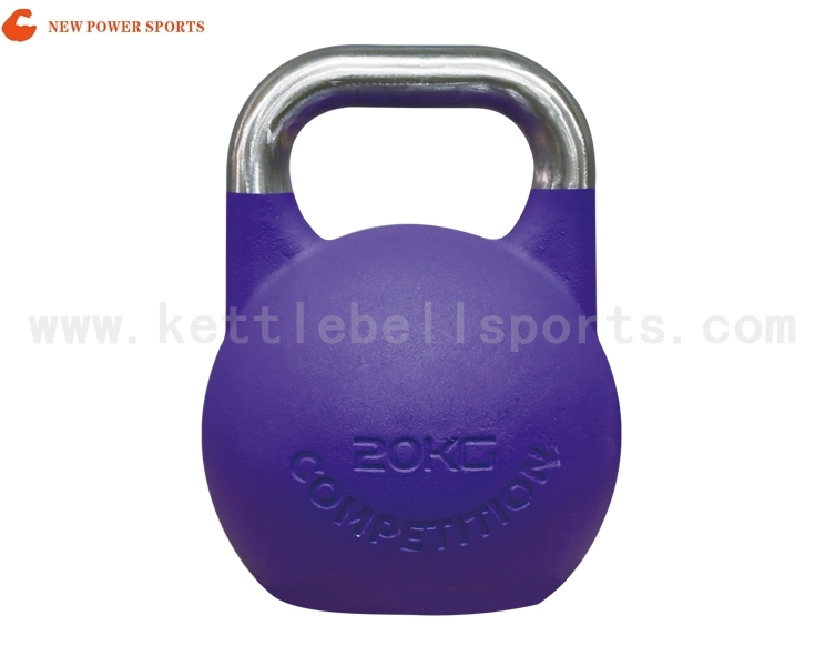 NP100405 Sand Powder Coated Competition Kettlebell.